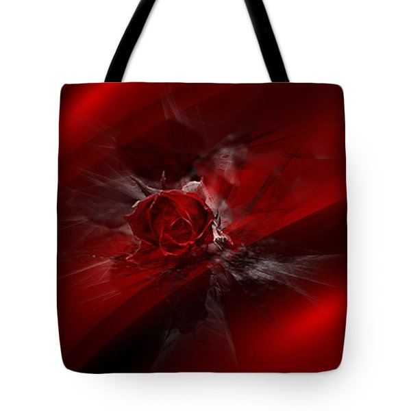 Rose Silk Tote Bag
