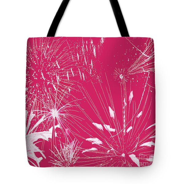 Tote Bag featuring the digital art Rose Splash by Methune Hively