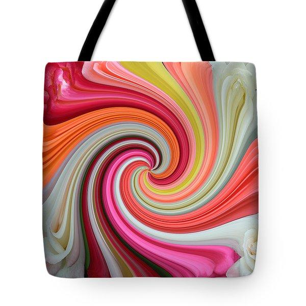 Rose Swirl 1 Tote Bag
