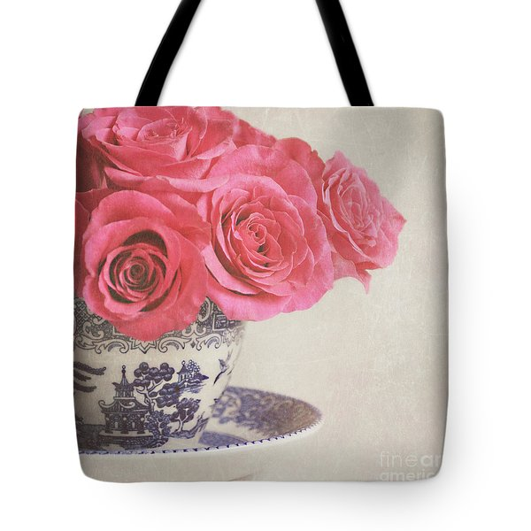 Tote Bag featuring the photograph Rose Tea by Lyn Randle