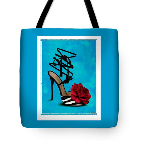 Rose Tie Up Slipper Tote Bag by Jann Paxton