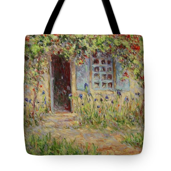 Rose Trees At The Front Of The House Tote Bag