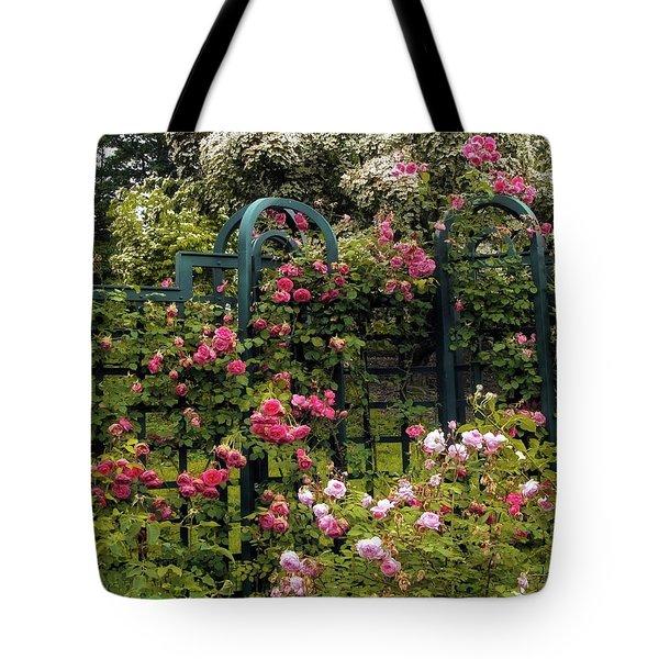 Rose Trellis Tote Bag