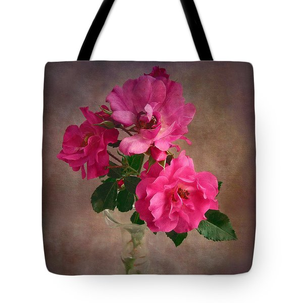Rose Trio Still Life Tote Bag by Louise Kumpf