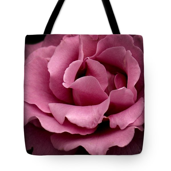 Tote Bag featuring the photograph Rose Violet Waves by Barbara Middleton