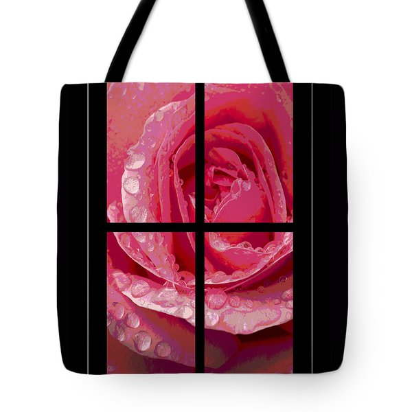 Rose Window Tote Bag by Hazy Apple