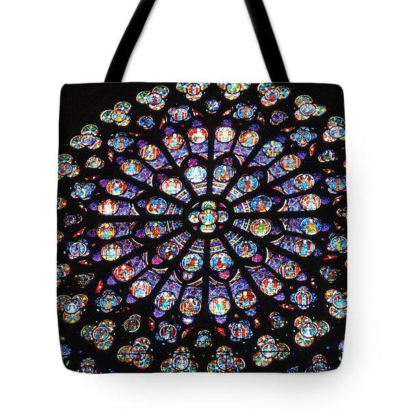 Rose Window Of Notre Dame Paris Tote Bag