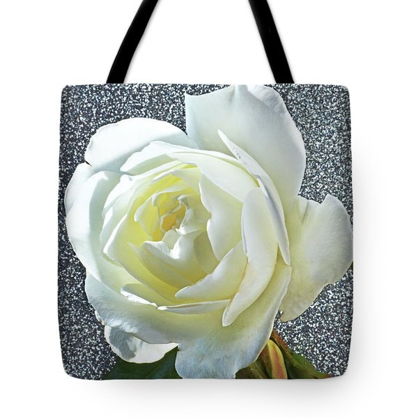 Tote Bag featuring the photograph Rose With Some Sparkle by Terence Davis