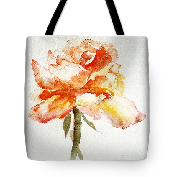 Rose Yellow Tote Bag by Jasna Dragun