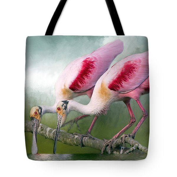 Roseate Romance Tote Bag by Bonnie Barry