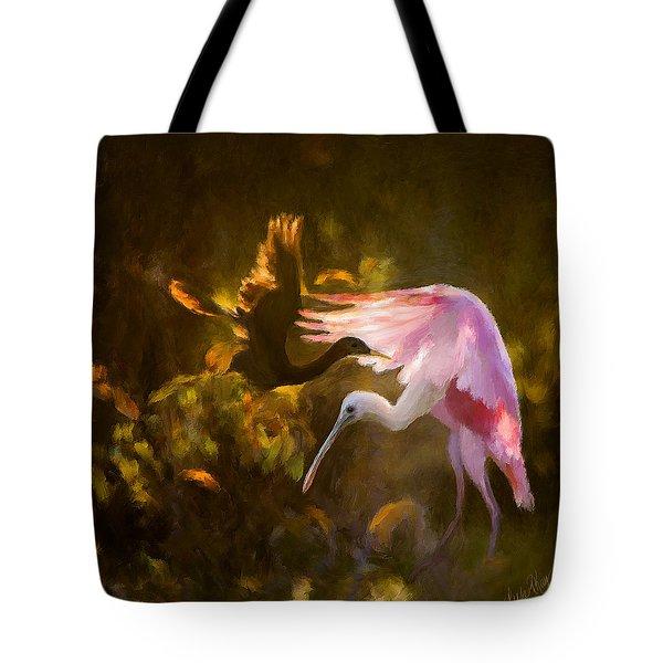 Roseate Spoonbill 0559 Tote Bag