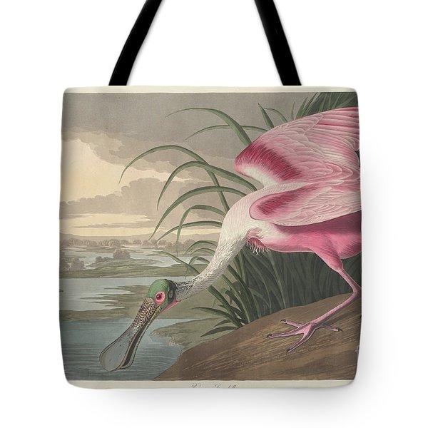 Roseate Spoonbill, 1836  Tote Bag by John James Audubon
