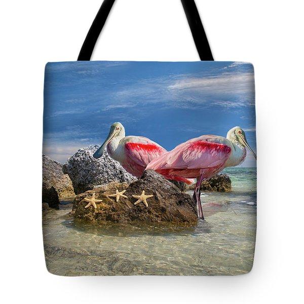 Roseate Spoonbill Florida Keys Tote Bag