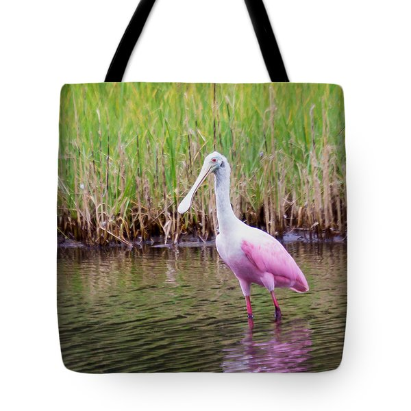 Tote Bag featuring the photograph Roseate Spoonbill  by Patricia Schaefer