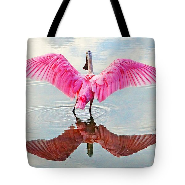 Roseate Spoonbill Pink Angel Tote Bag