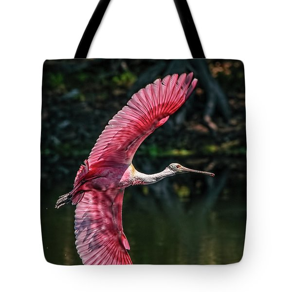 Roseate Spoonbill Tote Bag by Steven Sparks