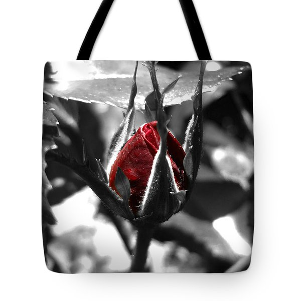 Rosebud Red Tote Bag