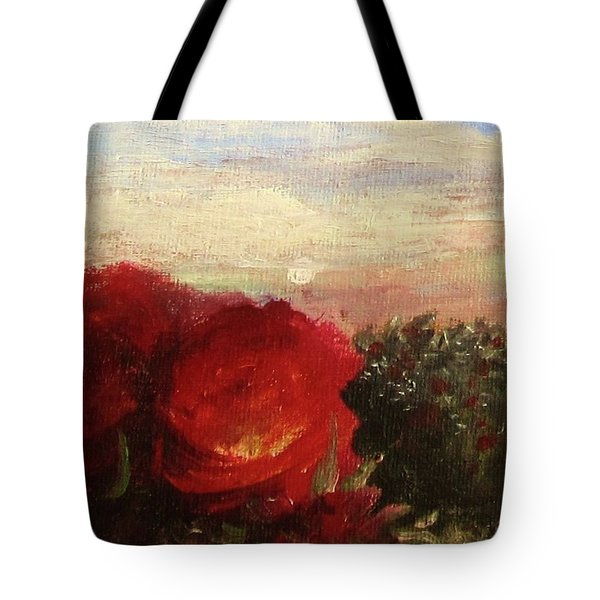 Tote Bag featuring the painting Rosebush by Mary Ellen Frazee