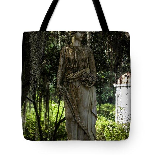 Rosedown Plantation Gardens Tote Bag by Ken Frischkorn