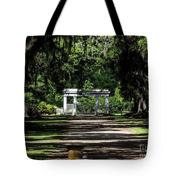 Rosedown Plantation Main Gate Tote Bag