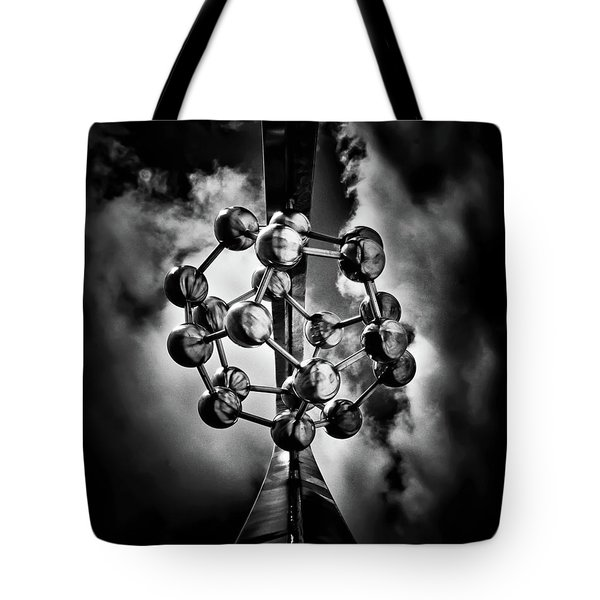 Rosehill Reservoir Foutain Sculpture Toronto Canada 1 Tote Bag by Brian Carson