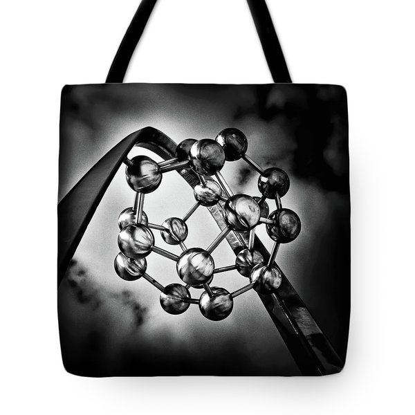 Tote Bag featuring the photograph Rosehill Reservoir Foutain Sculpture Toronto Canada 2 by Brian Carson