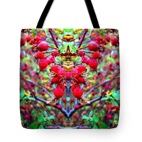 Rosehip Necklace Tote Bag