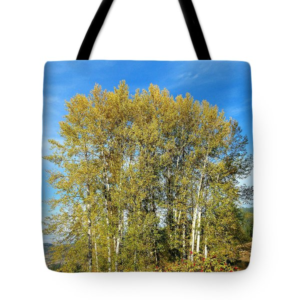 Rosehips And Cottonwoods Tote Bag by Will Borden