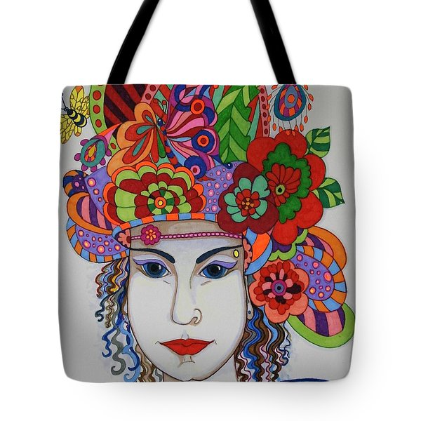 Tote Bag featuring the painting Rosemary by Alison Caltrider