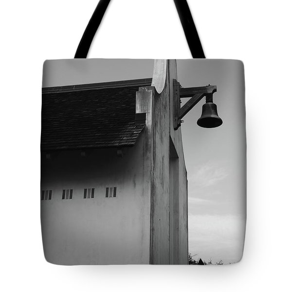 Rosemary Beach Post Office In Black And White Tote Bag