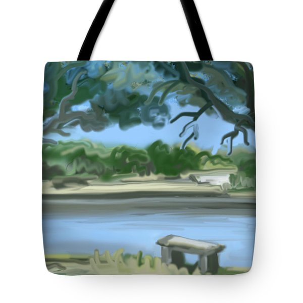Rosemary Lake Tote Bag by Jean Pacheco Ravinski