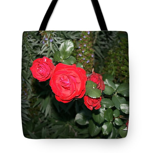 Tote Bag featuring the photograph Roses Among by Cynthia Marcopulos
