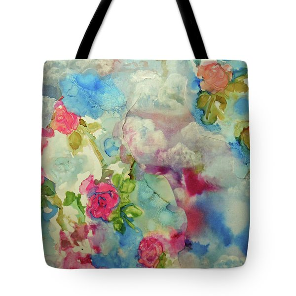 Roses Among The Clouds Tote Bag