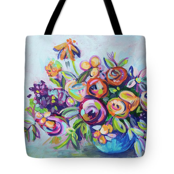 Roses And Kumquats Tote Bag by Kristin Whitney