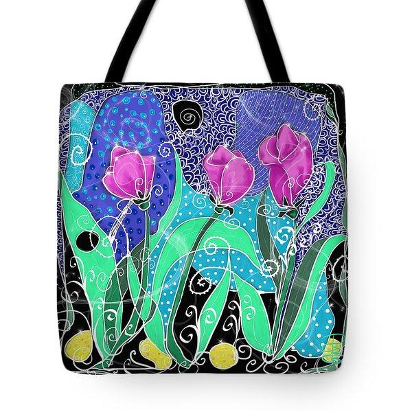 Roses And Lemons Tote Bag by Debra Baldwin