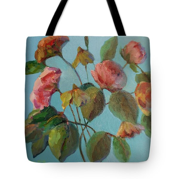 Roses And Wildflowers Tote Bag