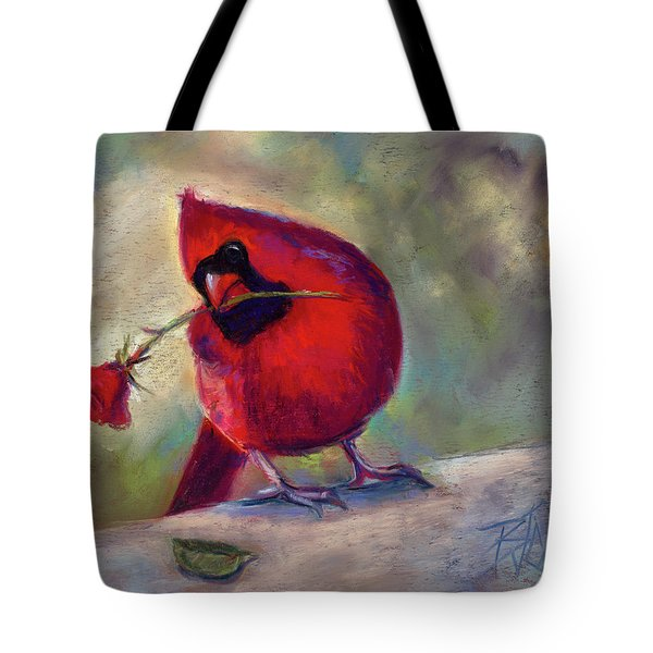 Tote Bag featuring the painting Roses Are Red And So Am I  by Billie Colson