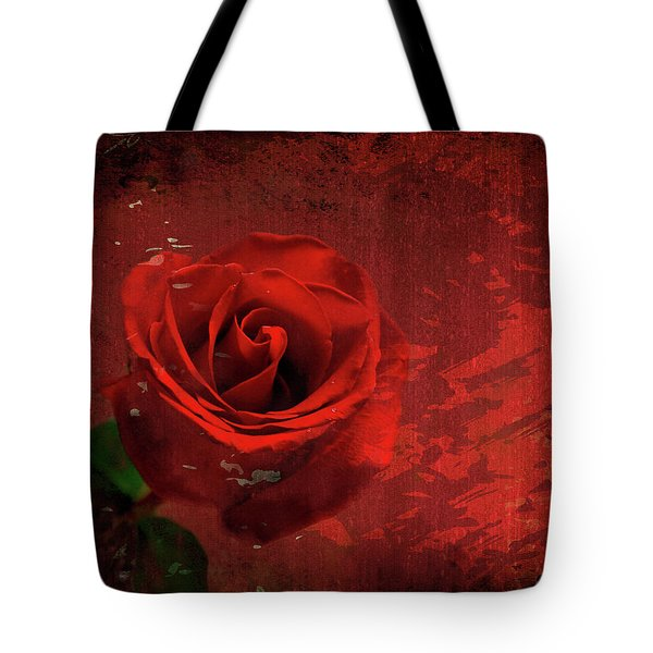 Tote Bag featuring the photograph Roses Are Still Red by Bonnie Willis