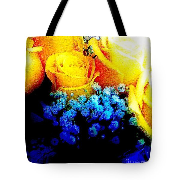 Roses Are Yellow Tote Bag