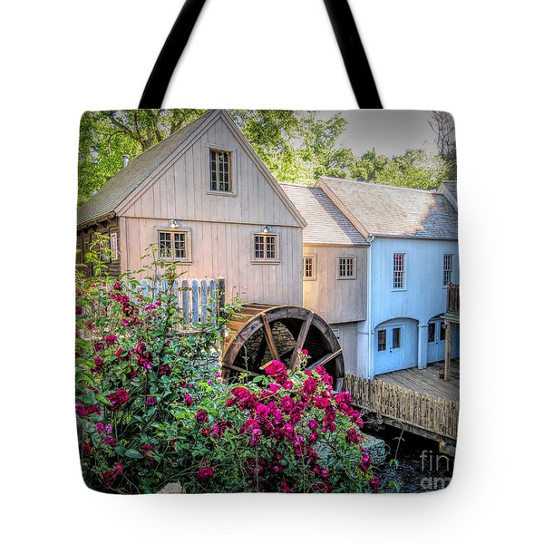 Roses At The Plimoth Grist Mill Tote Bag