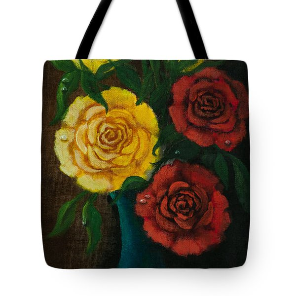 Tote Bag featuring the painting Roses by Elizabeth Mundaden