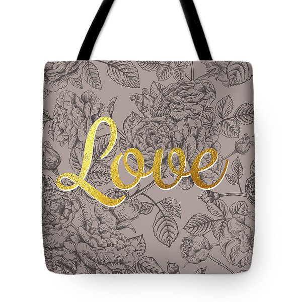 Roses For Love Tote Bag by BONB Creative