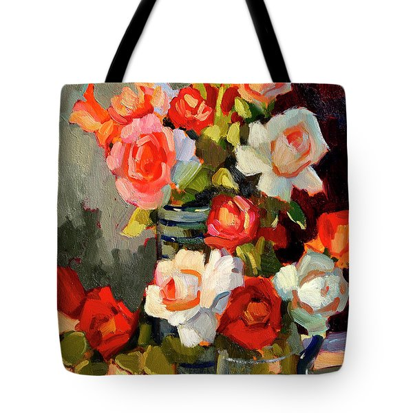 Roses From My Garden Tote Bag by Diane McClary