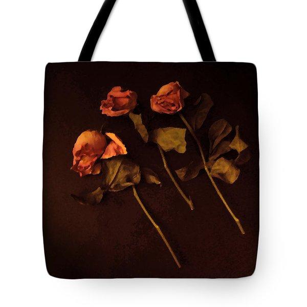 Roses In Amber Light Tote Bag by Cedric Hampton