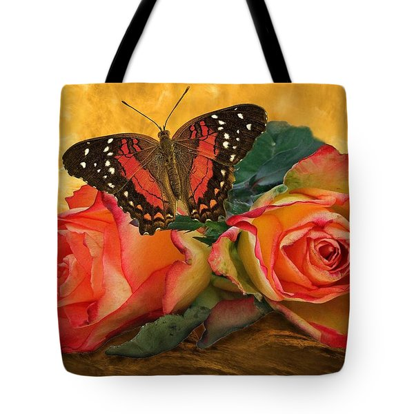 Roses In Golden Light 2 Tote Bag