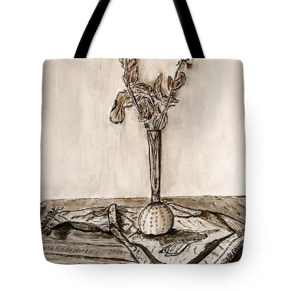 Roses In Sepia. Tote Bag