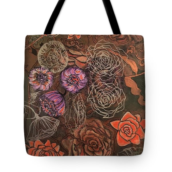 Roses In Time Tote Bag