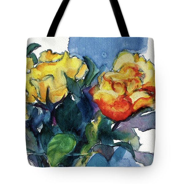 Roses In Vase Still Life I Tote Bag
