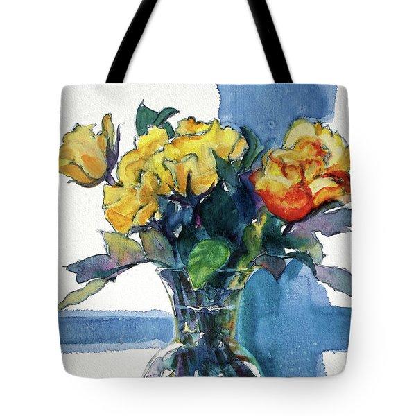 Roses In Vase Still Life I Tote Bag