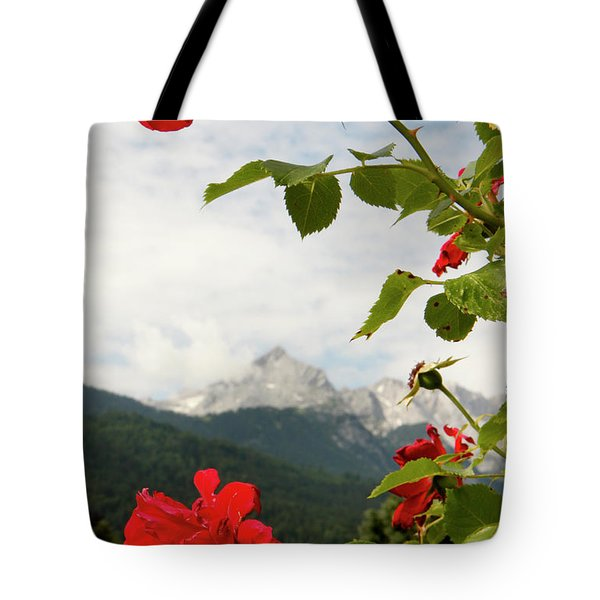 Tote Bag featuring the photograph Roses Of The Zugspitze by KG Thienemann